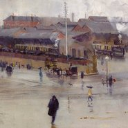 Image: Arthur Streeton The railway station, Redfern 1893 (detail), Art Gallery of New South Wales