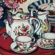 Image: Margaret Preston Thea Proctor's tea party 1924 (detail), Art Gallery of New South Wales © Margaret Rose Preston Estate, licensed by Viscopy, Sydney