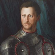 Image: Agnolo Bronzino Cosimo I de' Medici in armour c1545 (detail)