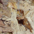Image: Arthur Streeton Fire's on 1891 (detail), Art Gallery of New South Wales