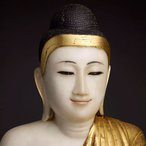 Image: Unknown artist Shakyamuni Buddha early 20th century (detail). Gift of Amber Johnston in memory of her father, Glen Johnston 2012. Donated through the Australian Government's Cultural Gifts Program.