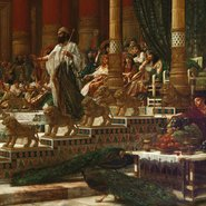 Image: Sir Edward John Poynter The visit of the Queen of Sheba to King Solomon 1890, Art Gallery of New South Wales