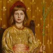 Image: Thomas Cooper Gotch My crown and sceptre 1891 (detail)