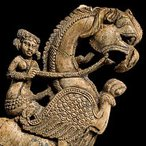 Image: Leogryph bracket (detail), Begram, 1st century AD. National Museum of Afghanistan. Photo: Thierry Ollivier