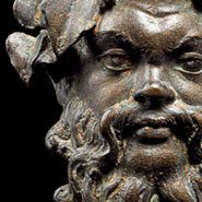Image: Mask of Silenus (detail), Begram, 1st century AD. National Museum of Afghanistan. Photo: Thierry Ollivier