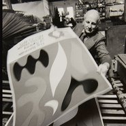 Image: Unknown (John Coburn printing the 1973 Biennale of Sydney poster) from the John Coburn archive 1973.
