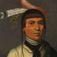 Image: Henry Inman No-Tin (Wind), a Chippewa Chief 1832–33 (detail), Los Angeles County Museum of Art, gift of the 2008 Collectors Committee, photo: Museum Associates/LACMA