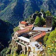Image: Abbey of Saint-Martin-du-Canigou, Pyrenees on Canigou mountain, France.