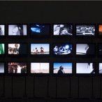Image: Christoph Schlingensief The African Twintowers 2005–07 (detail), multimedia installation, 18 flatscreen monitors, 18 videos, no sound, 165 × 421 cm (overall). Courtesy the artist and Hauser & Wirth, London and Zürich