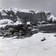 Image: Kaldor Public Art Project 1: Christo and Jeanne-Claude Wrapped coast – one million square feet, Little Bay, Sydney, 28 October – 14 December 1969 (detail) © Christo. Photo: Shunk-Kender © J Paul Getty Trust. All Rights Reserved