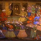 Image: Isfahan, Chehel Sotun (Forty Pillar) Palace, detail of the mural in the audience hall, Feasting reception hosted by Shah Abbas the Great, mid-17th century. Photo © Sussan Babaie