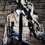 Image: Street art by graffiti artist ROBBBB, Shanghai