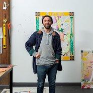 Image: Artist Chris Dolman in his Artspace Studio. Photo: Jessica Maurer