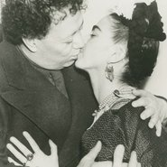 Image: Frida and Diego kissing following their second wedding after signing their marriage certificate, San Francisco, 1940 (detail). Photographer unknown. Courtesy Throckmorton Fine Art, Inc