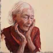Image: Andrew Lloyd Greensmith The inner stillness of Eileen Kramer (detail), Archibald Prize 2017 finalist
