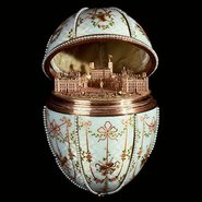 Image: Mikhail Perkhin Gatchina Palace Egg 1901 Walters Art Museum, acquired by Henry Walters, 1930