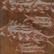 Image: Wamud Namok AO Four catfish c1959 (detail) © Estate of the artist. Licensed by Viscopy, Sydney