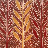 Image: Binyinyuwuy Rain in the trees c1959 (detail) © Binyinyuwuy Estate. Licensed by Aboriginal Artists Agency, Sydney