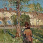 Image: John Russell Madame Sisley on the banks of the Loing at Moret 1887 (detail), Art Gallery of New South Wales
