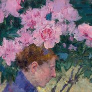 Image: John Russell Peonies and head of a woman c1887 (detail), National Gallery of Victoria