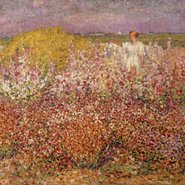 Image: John Russell Mrs Russell among the flowers in the garden of Goulphar, Belle-Île 1907 (detail), Musée d'Orsay, Paris, held by the Musée de Morlaix, bequest of Mme Jouve 1948