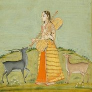 Image: Unknown Todi Ragini late Mughal c1720-1857 (detail), North India