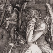 Image: Albrecht Dürer Melencolia I 1514 (detail), engraving, Art Gallery of NSW