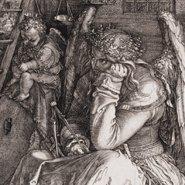 Image: Albrecht Dürer Melencolia I 1514 (detail), engraving, Art Gallery of NSW