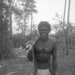 Image: Mundukul, father of the artist Noŋgirriŋa Marawili, at Gaṉdiwuy July 1935. Image from The Mulka Project archives and courtesy of The Thomson Family.