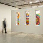 Image: John Kaldor Family Gallery with Sol LeWitt's Wall drawing #1091: arcs, circles and bands (room) 2003 © Estate of Sol LeWitt/ARS. Licensed by Viscopy, Sydney