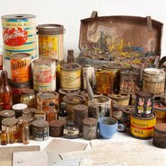 Image: Materials from Sidney Nolan's studio, Art Gallery of NSW artist archive.