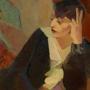 Image: Grace Crowley Portrait of Lucie Beynis 1929 (detail), Art Gallery of New South Wales © Reproduced with permission of Grace Crowley Estate
