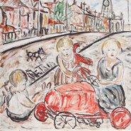 Image: Danila Vassilieff Fitzroy street scene (1937) (detail) © Heide Museum of Modern Art