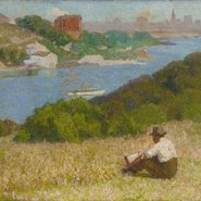 Image: Roland Wakelin Down the hills to Berry's Bay 1916 (detail), Art Gallery of New South Wales