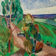 Image: Grace Cossington Smith Landscape at Pentecost c1932 (detail), Art Gallery of New South Wales © Estate of Grace Cossington Smith