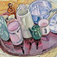 Image: Grace Cossington Smith Things on an iron tray on the floor c1928 (detail), Art Gallery of New South Wales © Estate of Grace Cossington Smith