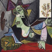 Image: Pablo Picasso Femme allongée sur un canapé (Dora Maar) 1939 (detail) oil on canvas, 97.1 × 130.2 cm © Pablo Picasso/Succession Pablo Picasso. Licensed by Viscopy, Sydney. The Lewis Collection