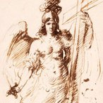 Image: Bartolomé Esteban Murillo The Archangel Michael c1655–60 (detail) drawing © The Trustees of the British Museum