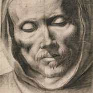 Image: Francisco de Zurbarán Head of a monk c1635–55 (detail) drawing © The Trustees of the British Museum