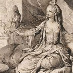 Image: José Camarón y Bonanat An oriental woman seated under a canopy c1771–80 (detail) drawing © The Trustees of the British Museum