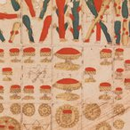 Image: Anonymous An uncut sheet of 24 playing-cards 1587 (detail) print © The Trustees of the British Museum
