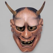 Image: Nō mask Aka (red) hannya, Edo period, 18th–19th century, National Noh Theatre