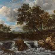 Image: Jacob Isaacksz van Ruisdael Landscape with a waterfall c1668 (detail), Rijksmuseum, on loan from the City of Amsterdam (A van der Hoop Bequest)