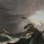Image: Ludolf Bakhuizen Warships in a heavy storm c1695 (detail), Rijksmuseum, purchased with the support of the Vereniging Rembrandt