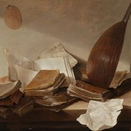 Image: Jan Davidsz de Heem Still life with books c1628 (detail), Rijksmuseum, gift of the heirs of C Hoogendijk, The Hague