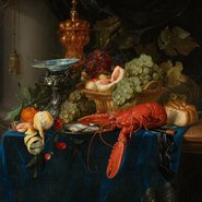 Image: Pieter de Ring Still life with golden goblet 1650–60 (detail), Rijksmuseum