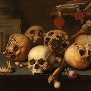 Image: Aelbert Jansz van der Schoor Vanitas still life c1660–65 (detail), Rijksmuseum