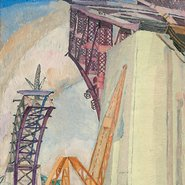 Image: Grace Cossington Smith The bridge in building 1929 (detail), National Gallery of Australia, Canberra, gift of Ellen Waugh 2005 © Estate of Grace Cossington Smith