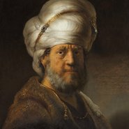 Image: Rembrandt Bust of a man in oriental dress 1635 (detail), Rijksmuseum, gift of Mr and Mrs Kessler-Hülsmann, Kapelle op den Bosch