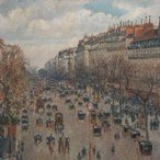Image: Camille Pissarro Boulevard Montmartre in Paris 1897 (detail), The State Hermitage Museum, St Petersburg